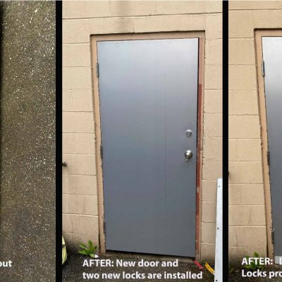 Before and After New Door is installed